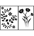 black elements for design vector image