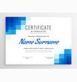blue certificate appreciation template vector image