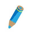 blue pencil vector image vector image