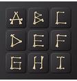 Bones Alphabets Set 1 vector image vector image