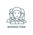business team sign line icon business vector image vector image