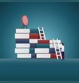 businessman are going up to find goals on book vector image