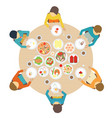 catering party with people vector image vector image