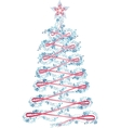 Christmas tree with a star vector image