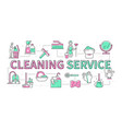 cleaning service - line design style modern banner vector image