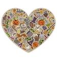 Colorful set of Halloween cartoon doodle vector image