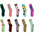 colorful socks vector image vector image