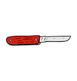 comic cartoon folding knife vector image vector image