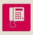 communication or phone sign grayscale vector image vector image