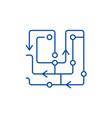 computer algorithms line icon concept computer vector image vector image