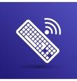 Computer keyboard key sign icon vector image