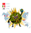coronavirus concept a scary virus monster holds vector image vector image