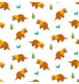 cute cartoon triceratops pattern for kids textile vector image
