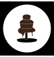 delicious brown chocolate fountain silhouette icon vector image vector image