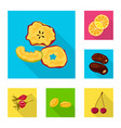 design of fruit and dried sign set of vector image