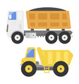 dump truck construction delivery truck vector image vector image