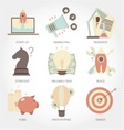Entrepreneurship flat design icon set vector image vector image