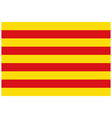 flag of catalonia autonomous community in spain vector image vector image
