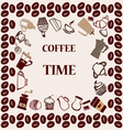 flat coffee tea set Coffee time vector image vector image