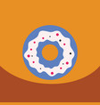 flat icon design collection donut with vector image vector image
