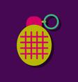 flat icon design collection military frag grenade vector image vector image