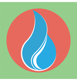 Flat water drop icon vector image vector image