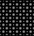 flower geometric seamless black and white pattern vector image vector image