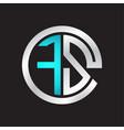 fs initial logo linked circle monogram vector image vector image