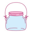 full color small and wide mason glass with wire vector image vector image
