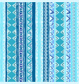 geometric seamless pattern blue and white colors vector image vector image