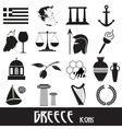 greece country theme symbols and icons set eps10 vector image vector image