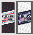 layouts for veterans day vector image vector image