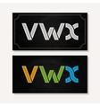 letter v w x logo alphabet chalk icon set
