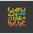 Lettering vector image vector image