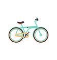light blue bike modern bicycle vector image