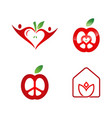 love hearts icon modern vector image