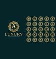 luxury letter logo template vector image