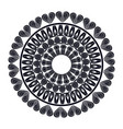 mandala round ornament pattern vintage decorative vector image vector image