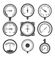 Manometers or pressure gauges and vacuum gauges vector image