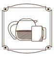 natural tea drink vector image vector image