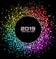 new year 2019 card confetti circle background vector image vector image