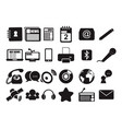 news communication technology simple icon symbol vector image