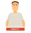 obesity problem overweight and overeating isolated vector image vector image