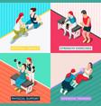 personal sport trainer 2x2 design concept vector image vector image