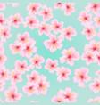 pink flower sakura seamless pattern japanese vector image vector image