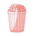 popcorn icon design vector image vector image