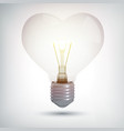 realistic illuminated electric bulb concept vector image vector image