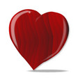 red wooden heart vector image
