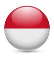 Round glossy icon of monaco vector image