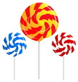 round shape lollipops vector image
